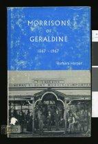 Image of Morrisons of Geraldine 1867-1967 - Harper, Barbara