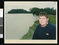 Image of Paul Eddy at Rangitata River - Timaru Herald Photographs, Personalities Collection