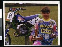 Image of Motocross rider Brad Evans - Timaru Herald Photographs, Personalities Collection