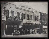 Image of [Staff posed outside Dominion Motors Ltd, Timaru, 1926] -