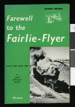 Image of Farewell to the Fairlie-flyer, January 1884-March 1968 : a record of 84 years service  - Fairlie Flyer Committee
