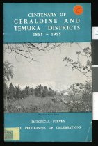 Image of The land we love : the story of Geraldine and Temuka Districts - Vance, William, 1901-1981