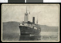 """Image of Troopship """"Willochra"""" nearing Port Chalmers, 18.7.15 -"""