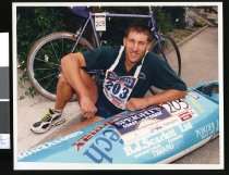 Image of Triathlete Gary Fahey - Timaru Herald Photographs, Personalities Collection