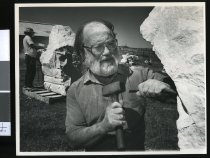 Image of John Ford, stone carver - Timaru Herald Photographs, Personalities Collection