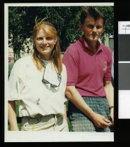 Image of Twizel teachers Clare and Mark Frost - Timaru Herald Photographs, Personalities Collection