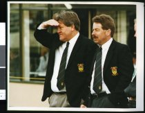 Image of Kevin Gloag and Ray Ramsay - Timaru Herald Photographs, Personalities Collection