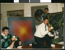Image of Kevin Gloag, Gareth Burgess and Chris Gard - Timaru Herald Photographs, Personalities Collection