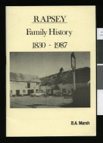 Image of Rapsey family history : 1830-1987  - Marsh, B A