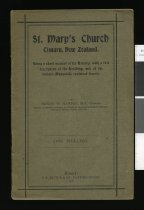 Image of St. Mary's Church, Timaru, New Zealand : being a short account of its history, with a full description of the building and of the various memorials contained therein  - Harper, Henry William, 1833-1922