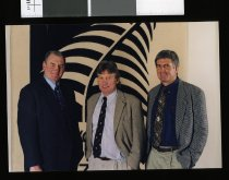 Image of David Giddings, David Stewart and Sir Brian Lochore - Timaru Herald Photographs, Personalities Collection
