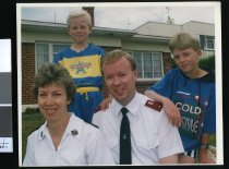 Image of Salvation Army Chief Barry Gosper and his family - Timaru Herald Photographs, Personalities Collection