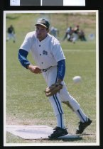 Image of Old Boys pitcher Marty Greig - Timaru Herald Photographs, Personalities Collection