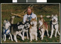 Image of Stephen Gullery, sled dog trainer - Timaru Herald Photographs, Personalities Collection