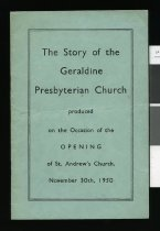 Image of The story of the Geraldine Presbyterian Church -