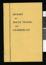 Image of History of Mount Nessing and Chamberlain - Simpson, Marion R (ed)