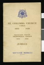 Image of St. Columba Church, Fairlie, 1879 - 1939 : Mackenzie County Presbyterian Church, 1889 - 1939 : jubilee : souvenir booklet. -