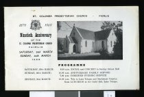 Image of Ninetieth anniversary of the St. Columba Presbyterian Church, Fairlie : Saturday 29th March, Sunday 30th March 1969. -