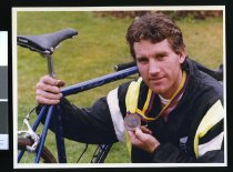 Image of Leon Hallett, cyclist - Timaru Herald Photographs, Personalities Collection