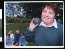 Image of Lexia Hamilton pictured with Lila Hamilton, Deana Anderson, Nikki Pilcher and Christopher Chambers - Timaru Herald Photographs, Personalities Collection