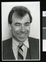 Image of Garey Hanifin, manager Radio Caroline - Timaru Herald Photographs, Personalities Collection