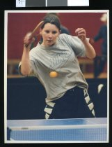 Image of Stacey Hanson, table tennis player - Timaru Herald Photographs, Personalities Collection