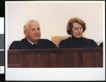 Image of Timaru District Judge Ian Hay (left) - Timaru Herald Photographs, Personalities Collection