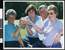 Image of Maureen Hayman, Robyn Hanson, Raylene Cowles and Hazel Brunton - Timaru Herald Photographs, Personalities Collection