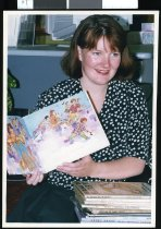 Image of Waimate Library Assistant Kirstin Hedley - Timaru Herald Photographs, Personalities Collection