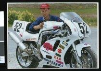 Image of John Hepburn, motorcyclist - Timaru Herald Photographs, Personalities Collection