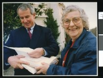 Image of Esther Hewson and Maurice McTigue - Timaru Herald Photographs, Personalities Collection