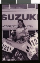 Image of Shelley Hickman, motorcyclist - Timaru Herald Photographs, Personalities Collection
