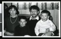 Image of Dr Chris and Mrs Cheryl Hill with their children Nicholas and Alastair - Timaru Herald Photographs, Personalities Collection