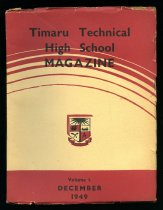 Image of Timaru Technical High School magazine -