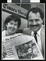 Image of Carol Rollinson and Jim Hopa - Timaru Herald Photographs, Personalities Collection