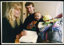 Image of Andrea, Paul, and Cody Hunter - Timaru Herald Photographs, Personalities Collection