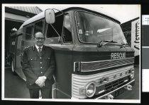 Image of Gordon Irvine, Geraldine Volunteer Fire Brigade - Timaru Herald Photographs, Personalities Collection