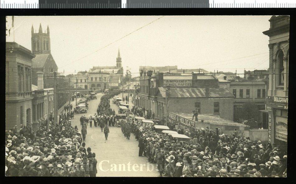 [Peace celebrations parade, Timaru, 1918] - South Canterbury Museum