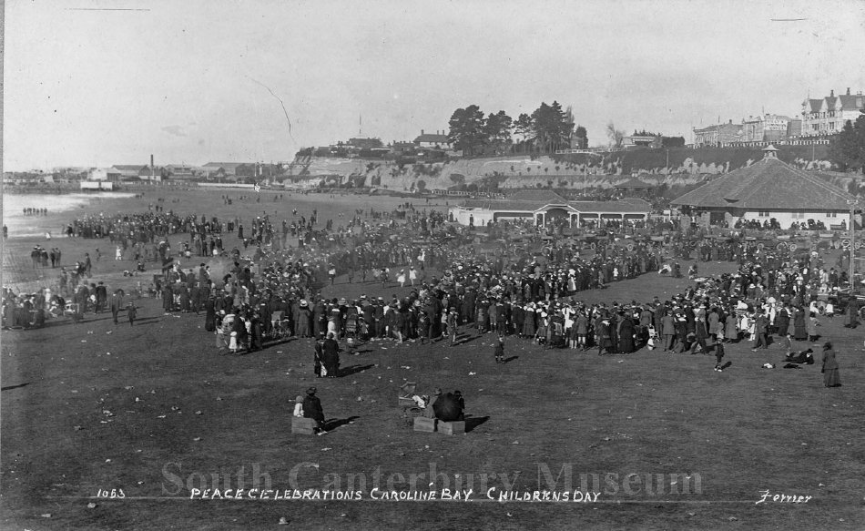 Peace Celebrations Caroline Bay Childrens Day - South Canterbury Museum