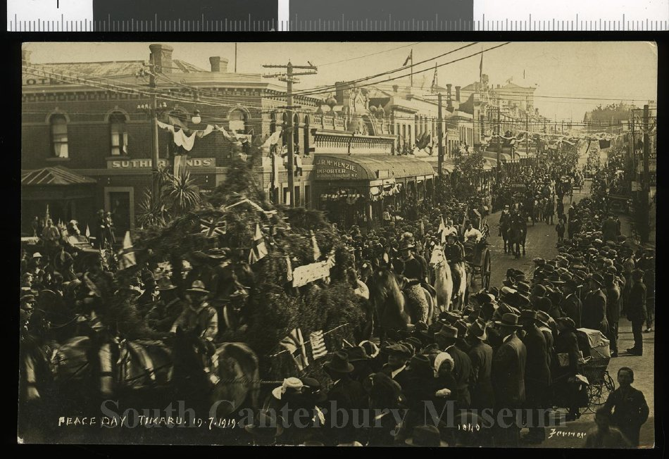 Peace Day, Timaru, 19.7.1919 [1040, Ferrier] - South Canterbury Museum