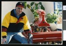 Image of Matt Jackson, motor mechanic - Timaru Herald Photographs, Personalities Collection