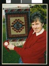 Image of Nancy Jackson, weaver - Timaru Herald Photographs, Personalities Collection