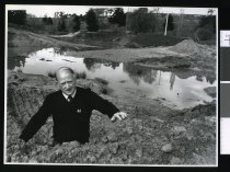 Image of Des Kearns, Centennial Park lake construction - Timaru Herald Photographs, Personalities Collection