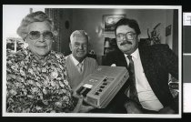 Image of Connie Keast, Graeme Holwell, and Gary Littler - Timaru Herald Photographs, Personalities Collection
