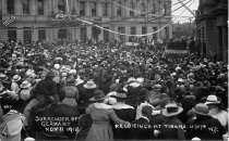 Image of Surrender of  Germany Nov 11 1918: Rejoicings at Timaru 12/10/18 -