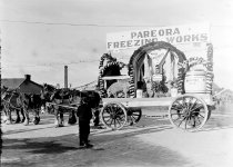 Image of [Pareora Freezing Works float, 1911 coronation celebrations, Timaru] -