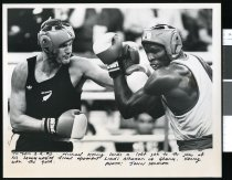 Image of Boxers Michael Kenny (left) and Liadi Alhassan - Timaru Herald Photographs, Personalities Collection