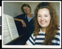 Image of Yvonne Hall (left) and Sacha Kilgour - Timaru Herald Photographs, Personalities Collection