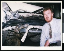 Image of Brian King, AMI insurance assessor - Timaru Herald Photographs, Personalities Collection