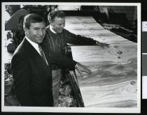 Image of Roger Maxwell (left) and Paul King - Timaru Herald Photographs, Personalities Collection